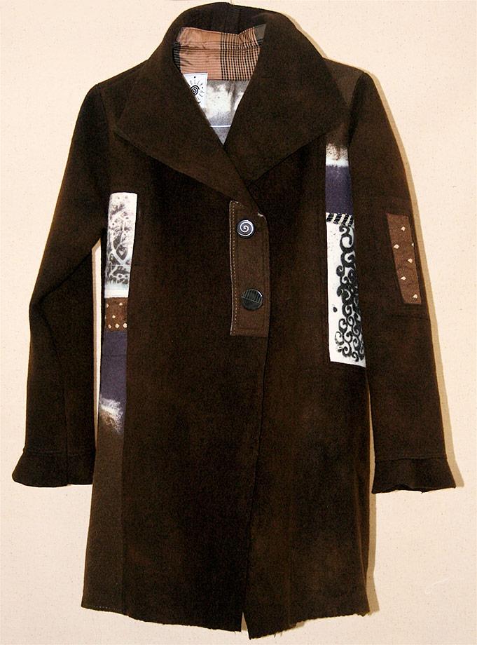 Brown K-Nette Wool Coat