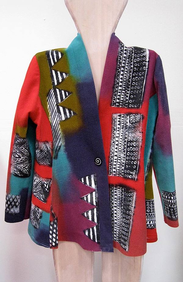 Kundun Silk Screened Rag Wool Jacket